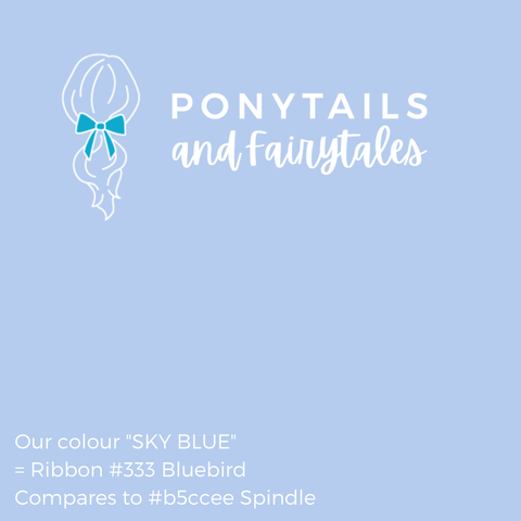 Sky Blue Hair Accessories - Ponytails and Fairytales