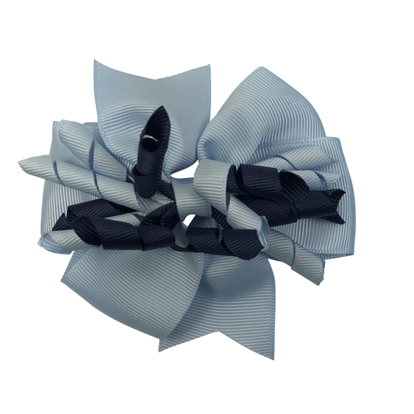 Sky Blue & Navy Hair Accessories - Assorted Hair Accessories - School Uniform Hair Accessories - Ponytails and Fairytales