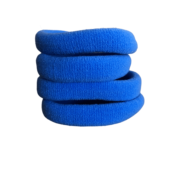 Soft Knitted Ponytail Holders (10pk) lackies School Ponytails Cornflower Blue