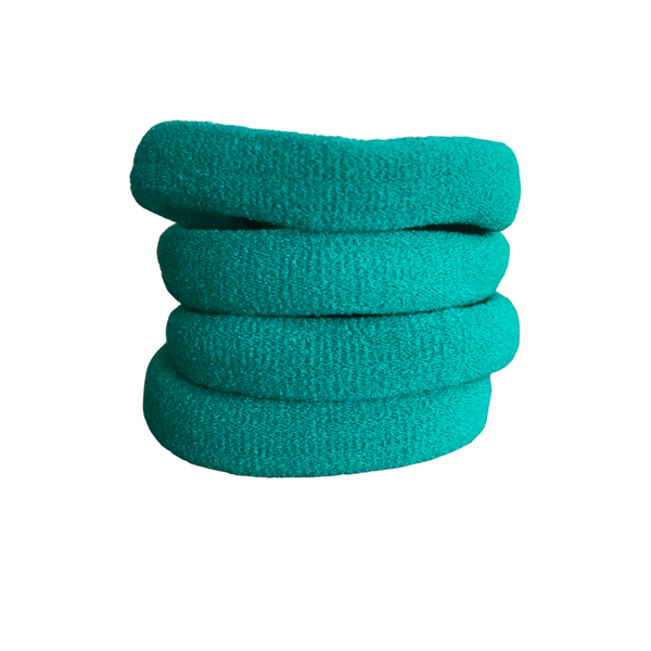 Soft Knitted Ponytail Holders (10pk) lackies School Ponytails Kelly Green