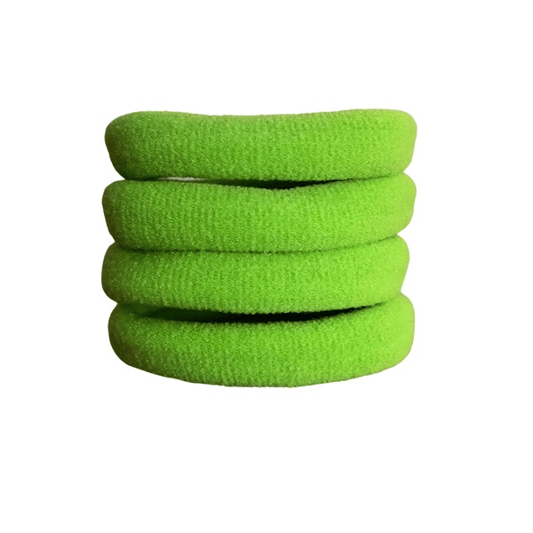 Soft Knitted Ponytail Holders (10pk) lackies School Ponytails Kiwi Green