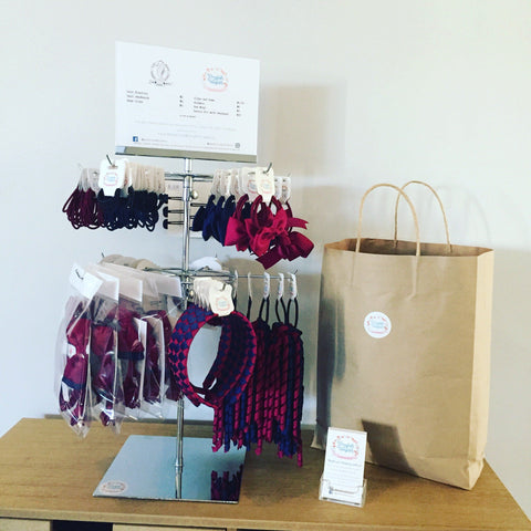 Stockist Counter Display: Senior School - Spinner Display - School Uniform Hair Accessories - Ponytails and Fairytales