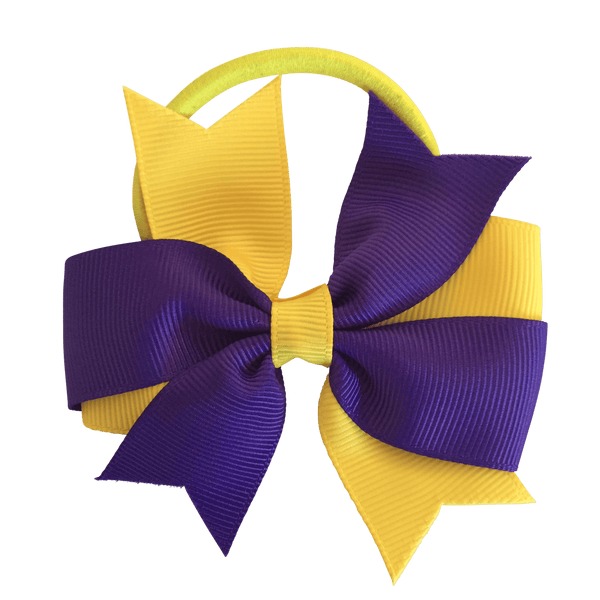 Swallowtail Bow Hair Tie - hair ties - School Uniform Hair Accessories - Ponytails and Fairytales