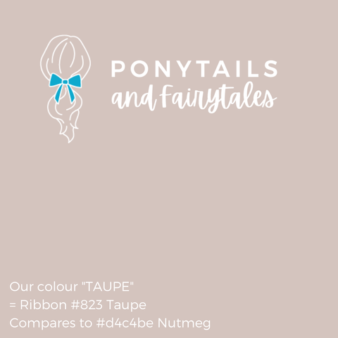 Taupe Hair Accessories Assorted Hair Accessories School Ponytails - Colours