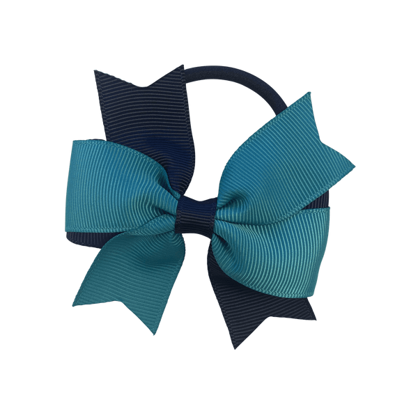 Navy & Teal Hair Accessories - Assorted Hair Accessories - School Uniform Hair Accessories - Ponytails and Fairytales