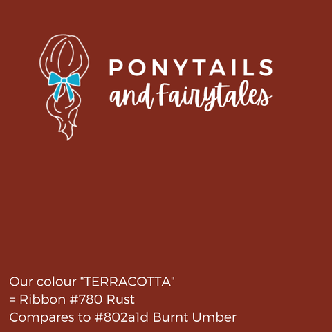 Terracotta / Burnt Orange Hair Accessories - Ponytails and Fairytales