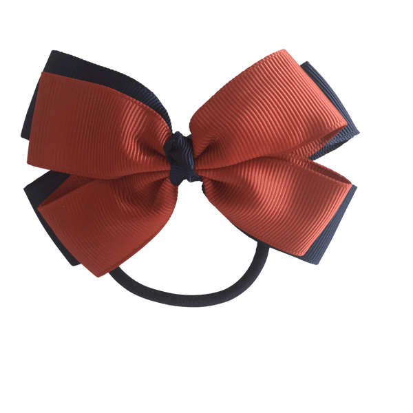 Terracotta & Navy Hair Accessories - Ponytails and Fairytales