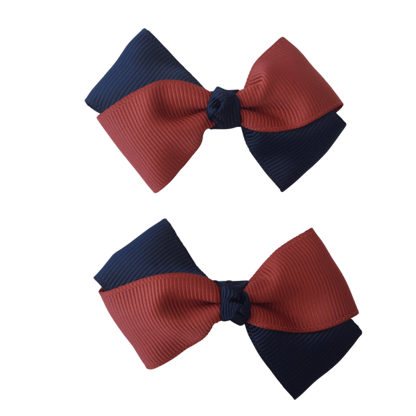 Terracotta & Navy Hair Accessories - Assorted Hair Accessories - School Uniform Hair Accessories - Ponytails and Fairytales