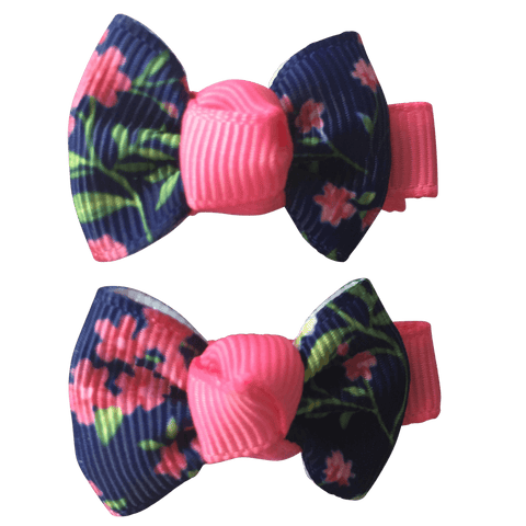 Tiny Floral Bowties for Toddlers - clearance - School Uniform Hair Accessories - Ponytails and Fairytales