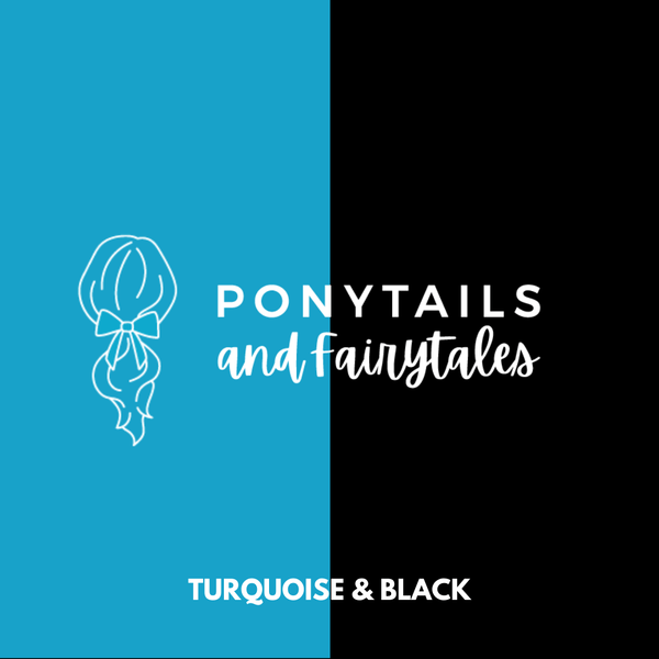 Turquoise & Black Hair Accessories Assorted Hair Accessories School Ponytails - Colours