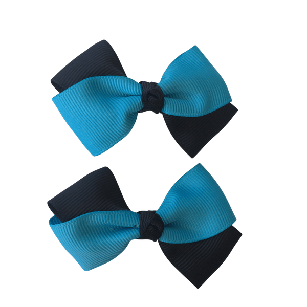 Turquoise & Black Hair Accessories - Assorted Hair Accessories - School Uniform Hair Accessories - Ponytails and Fairytales