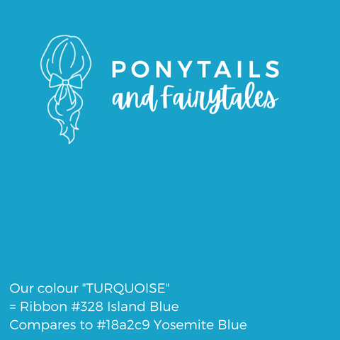 Turquoise Hair Accessories - Ponytails and Fairytales