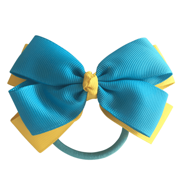 Turquoise & Yellow Hair Accessories - Ponytails and Fairytales