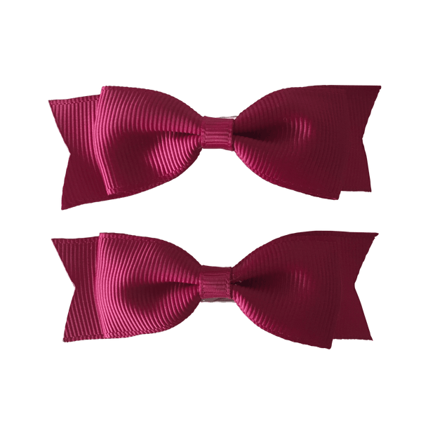 Tuxedo Bowtie (2pc) - Hair clips - School Uniform Hair Accessories - Ponytails and Fairytales