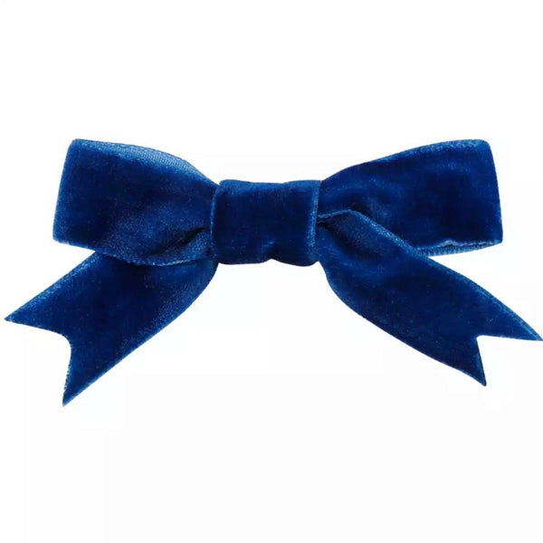 Velvet Bow Clip - Hair clips - School Uniform Hair Accessories - Ponytails and Fairytales