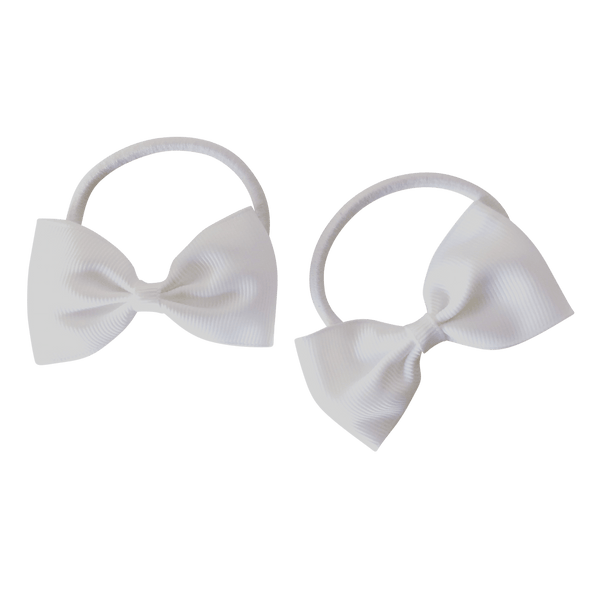 White Hair Accessories - Assorted Hair Accessories - School Uniform Hair Accessories - Ponytails and Fairytales