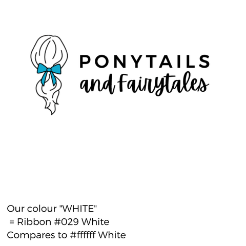 White Hair Accessories - Ponytails and Fairytales