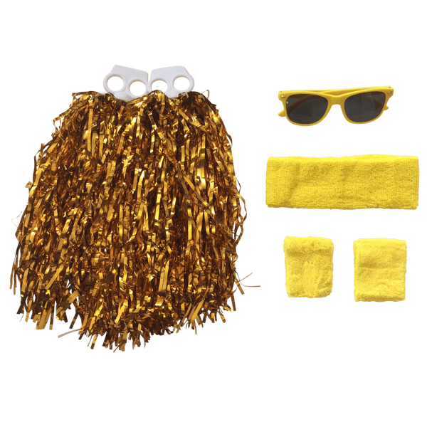 Yellow and Gold Team Sports Day Range - Carnival and event - School Uniform Hair Accessories - Ponytails and Fairytales