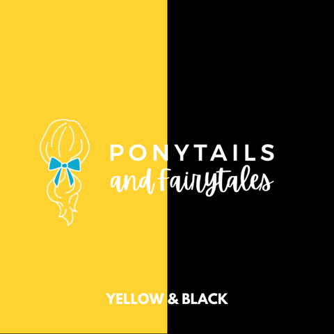 Yellow & Black Hair Accessories - Ponytails and Fairytales