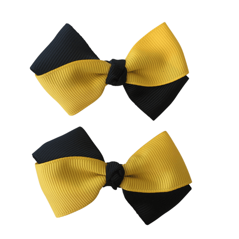 Yellow & Black Hair Accessories - Assorted Hair Accessories - School Uniform Hair Accessories - Ponytails and Fairytales