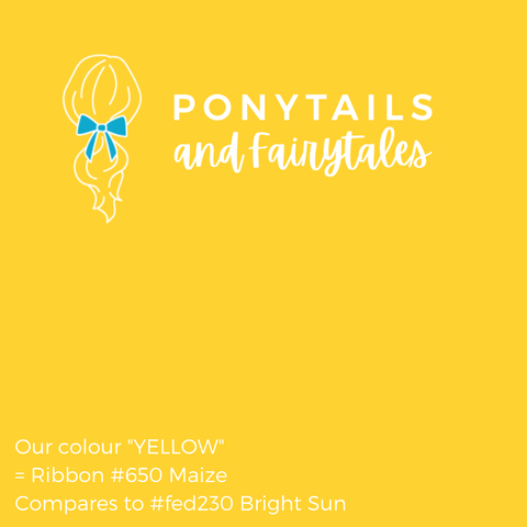 Yellow Hair Accessories - Ponytails and Fairytales