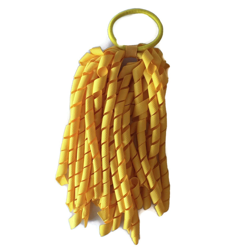 Yellow Korker - Carnival and event - School Uniform Hair Accessories - Ponytails and Fairytales