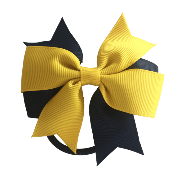 Yellow & Navy Hair Accessories - Assorted Hair Accessories - School Uniform Hair Accessories - Ponytails and Fairytales