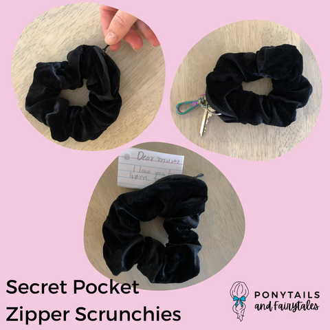 Secret Pocket Zipper Scrunchie