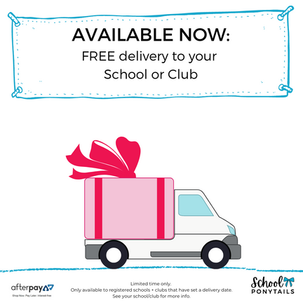 activate free delivery to school - pre order uniform bows and carnival gear now