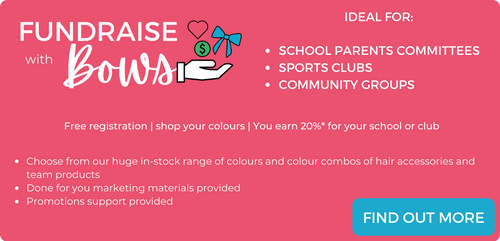 fundraise with bows, australian school and club fundraising idea, free to join