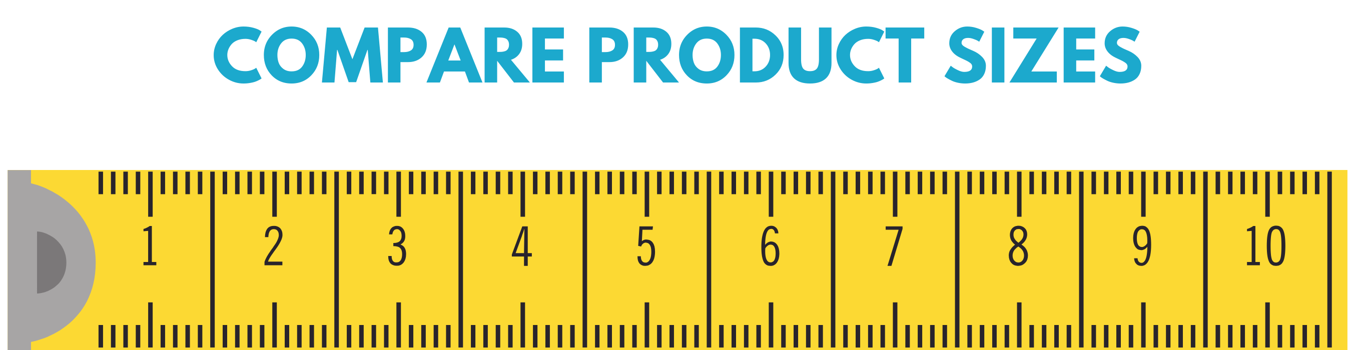 product size chart - bows, clips, headbands - ponytails and fairytales