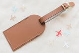 Brown Fly Away with Me Leather Luggage Tags