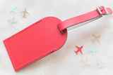 Red Fly Away with Me Leather Luggage Tags