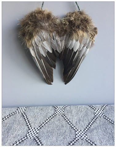 Inka Angel Wings, Decoration,Lene Bjerre - White & Grey
