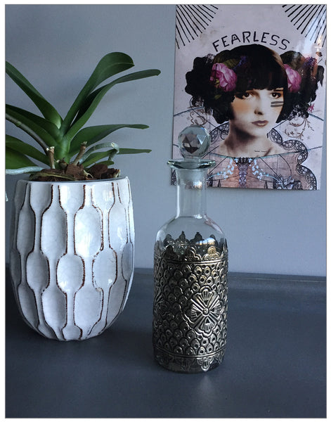 Babylon Decanter, Decoration,Lene Bjerre - White & Grey