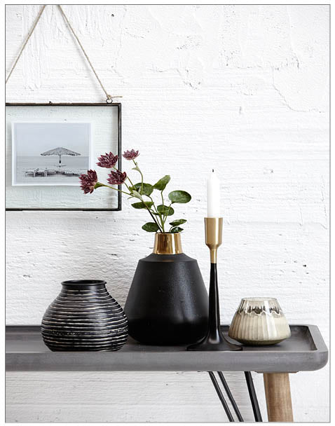 Lincoln Console, Side Table,Lene Bjerre - White & Grey