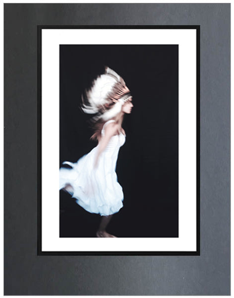 Free Spirit ~ Dance, Art Print,White & Grey - White & Grey