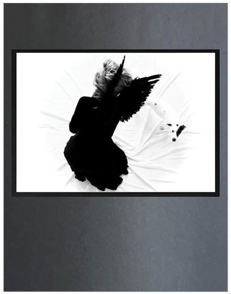 Free Spirit ~ Destined, Art Print,White & Grey - White & Grey