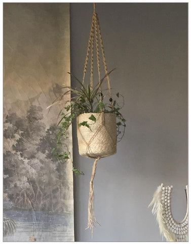 Fern Hanging Pot ~ Last few available, Decoration,Lene Bjerre - White & Grey