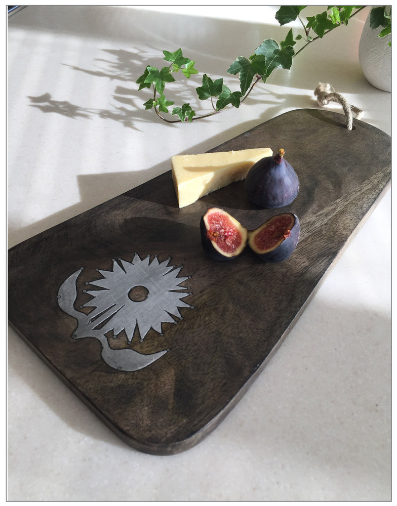Mango Flower Chopping Board, Kitchen,Lene Bjerre - White & Grey