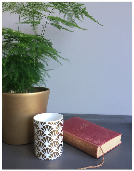 Savoy Votive, Candle Holder,Lene Bjerre - White & Grey