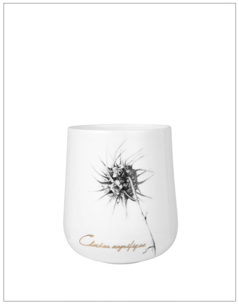 Thistle Votive, Candle Holder,Lene Bjerre - White & Grey