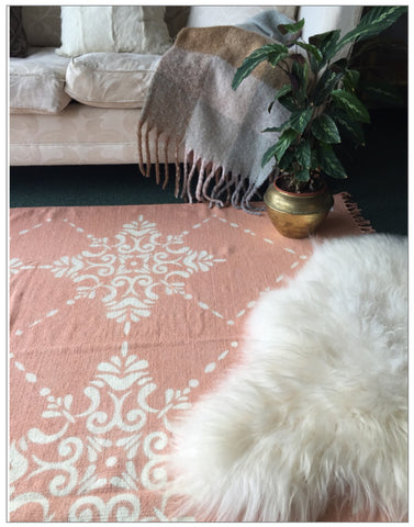 Moroccan Sun Cotton Rug, Rugs,Lene Bjerre - White & Grey