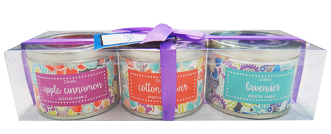 Tin Candle Gift Set - Flora