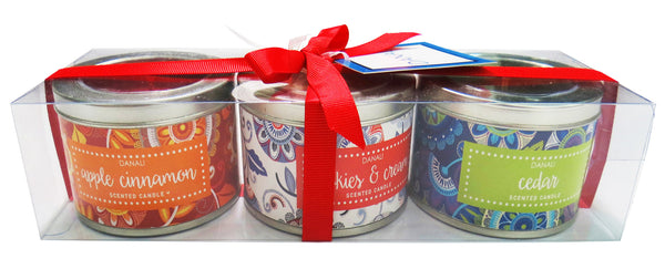 Tin Candle Gift Set - Dot Flowers