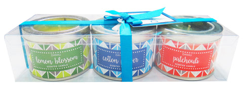 Tin Candle Gift Set - Triangle