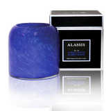 Alassis Cobalt Water & Driftwoord Art Glass Candle