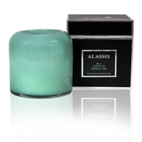 Alassis Lotus & White Tea Art Glass Candle