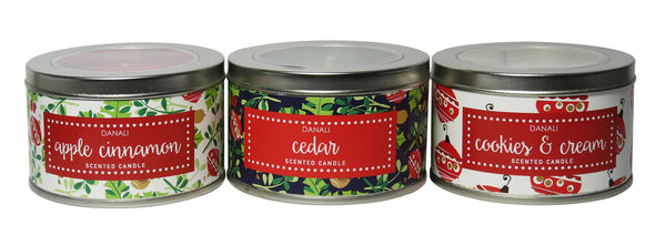 DANALI with PRIDE Holiday Tin Candle Gift Set - Festive
