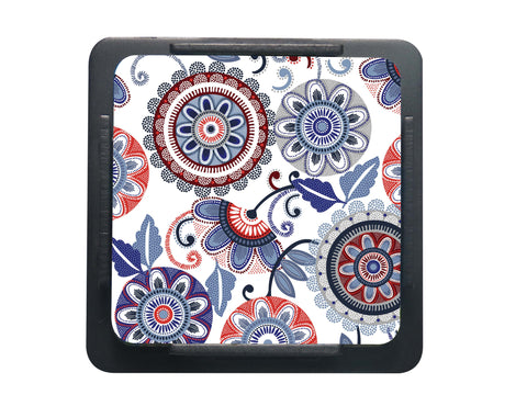 S/6 Coaster with Stand Acrylic - Dot Flower